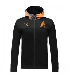 Veste à capuche noire Olympique De Marseille Orange Hat 2019-2020