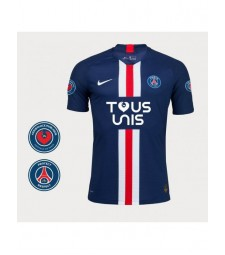 Paris Saint Germain Home Mens Soccer Jersey TOUS UNIS Version Football Shirt 2019-2020