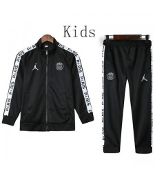 Jordan Paris Saint Germain Noir Enfants Veste Costume Blanc Logo 2019-2020