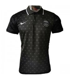 Maillot Entraînement Football Paris Saint Germain Polo Football Noir 2020