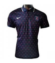 Paris Saint Germain Polo maillot de football de football maillot de football bleu 2020