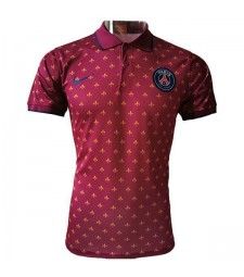 Paris Saint Germain polo maillot football formation football maillot rouge 2020