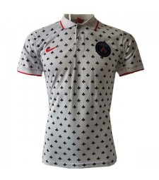 Paris Saint Germain Jordan Polo Jersey Football Training Soccer Shirt White 2020