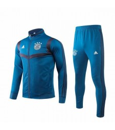 Bayern Munich Blue Grey Jacket Kit Long Zipper 2019-2020