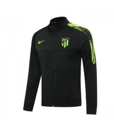 Atletico Madrid Noir Football Hommes Football Veste Vert Logo 2020-2021