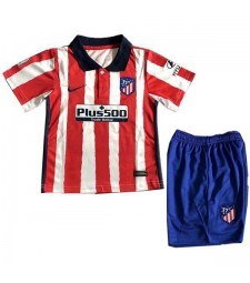 Atletico Madrid Home Kids Kit Enfants Football Uniformes de football pour les jeunes 2020-2021