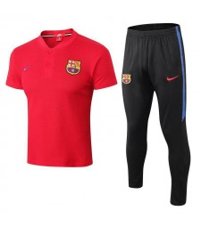 Barcelona Men Polo+Pant Kit Red 2018/2019
