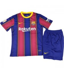Barcelona Home Soccer Jersey Kids Kit First Football Suit 2020-2021