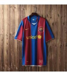 Barcelona Retro Home Soccer Jerseys Maillots de football pour hommes Uniformes 2007-2008