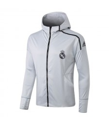 Real Madrid Hoodie Light Gray Sweatshirts 2018/2019