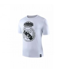 Chemise à col rond blanc du Real Madrid 2019