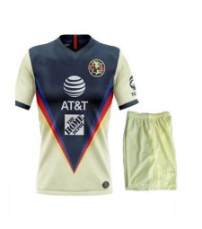 Maillots de football Club America Kit enfants Maillots de football à domicile uniformes 2020-2021