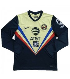 Maillot de football à manches longues Club America Maillots de football à domicile uniformes 2020-2021