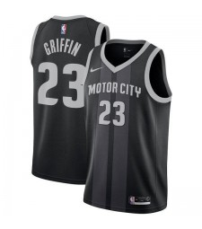 Detroit Pistons Blake Griffin 23# Jersey Black 2018/2019-City Edition