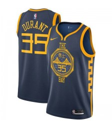 Golden State Warriors Kevin Durant 35# Jersey Navy Blue 2018/2019