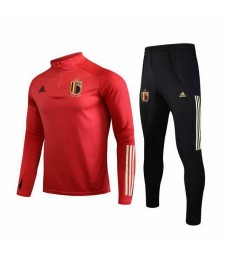 Belgium National Team Red Round Necked Tracksuit 2019-2020