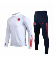 Colombia National Team White Zipper Tracksuit 2019-2020