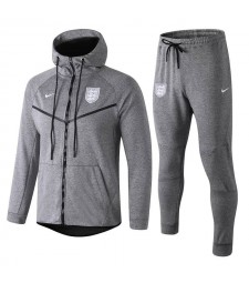Sweat à capuche survêtement England gris 2018/2019