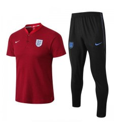 England Men Polo + Pant Kit Red 2018/2019