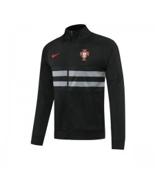 Portugal Hommes Football Black Player Version Soccer-Training Jacket 2020-2021
