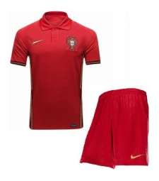 Portugal Home Soccer Jersey Euro 2020 Kids Kit