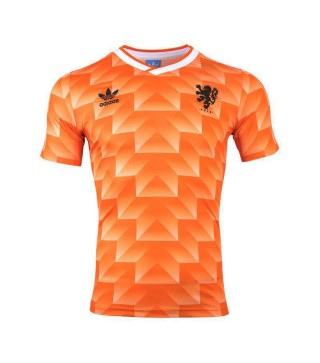 Pays-Bas Retro Home Soccer Jersey Mens Football Shirt 1988