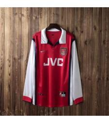 Arsenal Retro Home Maillots de football à manches longues Hommes Maillots de football Uniformes 1998