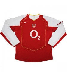 Arsenal Accueil Maillot Rétro Hommes Premier Soccer Sportswear Football Manches Longues 2004-2005