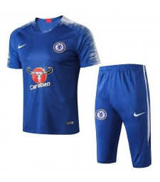 Chelsea Men Short Training Suit Kit Blue 2018/2019