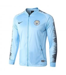 Manchester City Light Blue Printed Sleeve Jacket 2018/2019