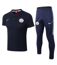Manchester City Men Polo+Pant Kit Royal Blue 2018/2019