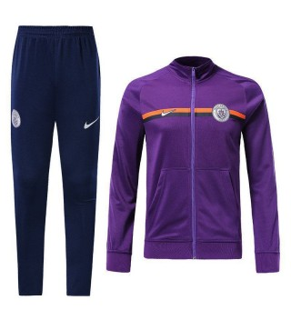Manchester City Purple Tracksuit Jacket Pant 2018/2019