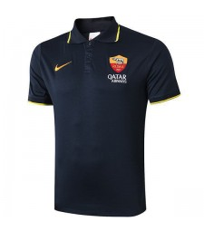 As Roma Polo Jersey Football Training Navy Soccer Team Sportswear T-shirt 2019-2020