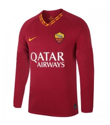 As Roma Home Maillot À Manches Longues Hommes Soccer Rouge 2019-2020