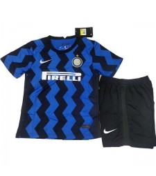 Inter Milan Home Soccer Jersey Kids Kit First Football Suit 2020-2021