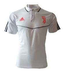 Juventus Polo à rayures blanches 2019-2020