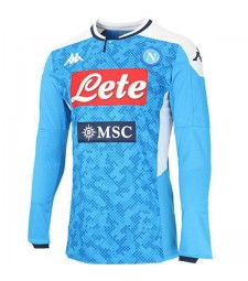 Maillot de football pour homme SSC Napoli Home Maillot manches longues 2019-2020