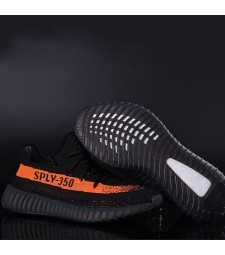 Men Yeezy Boost 350 V2 Black Orange