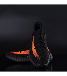 Women Yeezy Boost 350 V2 Black Orange