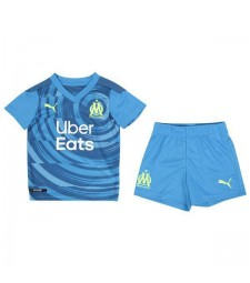 Olympique de Marseille Kids Childs Young Kit Third Soccer Jersey Football Clothes Uniform 2020-2021