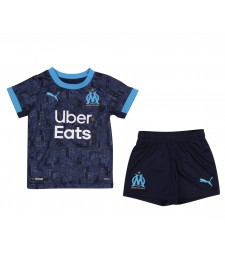 Olympique de Marseille Kids Childs Young Kit Away Soccer Jersey Football Clothes Uniform 2020-2021