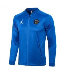 Jordan Paris Saint-Germain Blue Soccer Jacket Pants Mens Football Tracksuit Uniforms 2021-2022