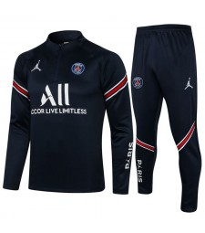 Jordan Paris Saint-Germain Royal Blue Soccer Tracksuit Football Uniforms 2021-2022
