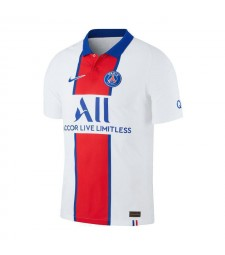 Paris Saint Germain Away Football Shirt PSG Mens Soccer Jersey White 2020-2021