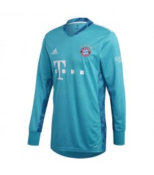 Bayern Munich Goalkeeper Blue Long Sleeve Soccer Jerseys Mens Football Shirts Uniforms 2020-2021