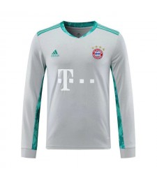 Bayern Munich Gray Long Sleeve Goalkeeper Soccer Jersey Mens Football Shirt 2020-2021