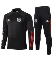 Bayern Munich Half Zip Black Mens Training Soccer Tracksuit 2020-2021