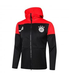 Bayern Munich Black Football Jacket Soccer Hoodies Tracksuit 2020-2021