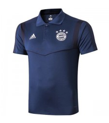 Bayern Munich Mens Polo Blue 2019-2020