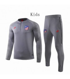 Atletic Madrid Gray Round neck Kids Tracksuit 2019-2020